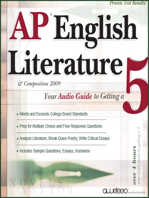 ap english literature essay question Apfi english literature 1999 scoring guidelines question 1 at the ap reading the score you assign should reflect your judgment of the quality of the essay.