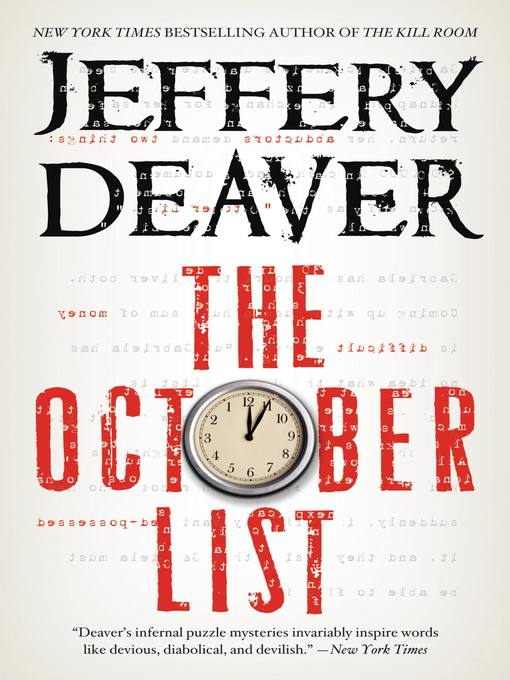 Title details for The October List by Jeffery Deaver - Available