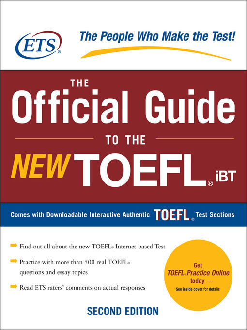 Title details for The Official Guide to the New TOEFL iBT by Educational Testing Service - Available