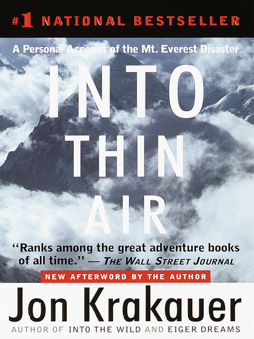 Title details for Into Thin Air by Jon Krakauer - Available