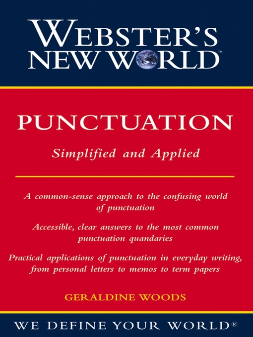 Title details for Webster's New World Punctuation by Geraldine Woods - Wait list