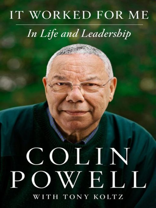 Title details for It Worked For Me by Colin Powell - Available