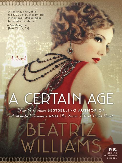 Title details for A Certain Age by Beatriz Williams - Wait list
