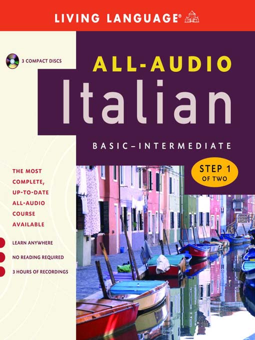 Title details for All-Audio Italian Step 1 by Living Language - Wait list