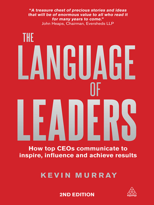 Title details for The Language of Leaders by Kevin Murray - Wait list