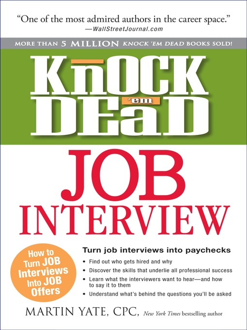 Title details for Knock 'em Dead Job Interview by Martin Yate - Available