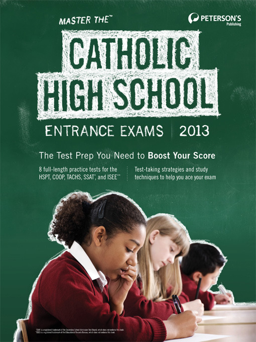 Title details for Master the Catholic High School Entrance Exams 2013 by Peterson's - Available