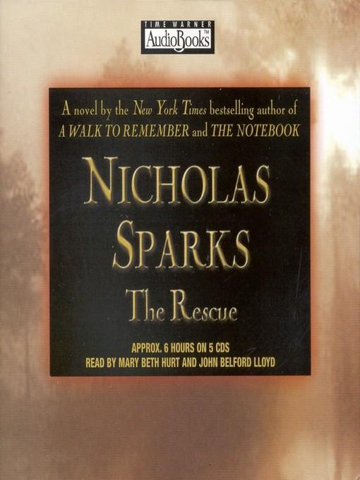 Title details for The Rescue by Nicholas Sparks - Wait list