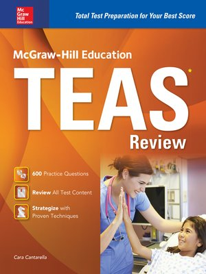 McGraw-Hill Education TEAS Review by Cara Cantarella.                                              AVAILABLE eBook.