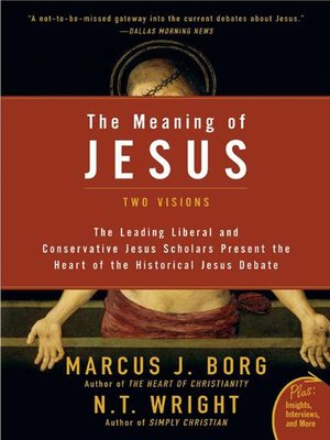cover image for the meaning of jesus