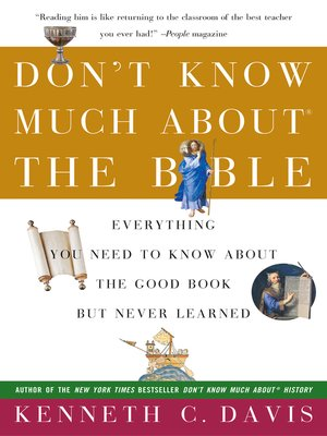 cover image for dont know much about the bible