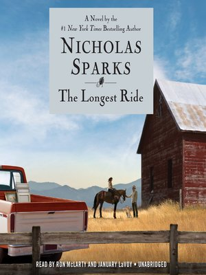The Longest Ride by Nicholas Sparks.                                              AVAILABLE Audiobook.